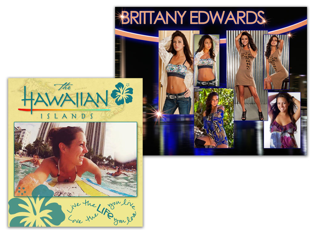 Brittany Edwards | Model Card | Hawaii Travel Ad