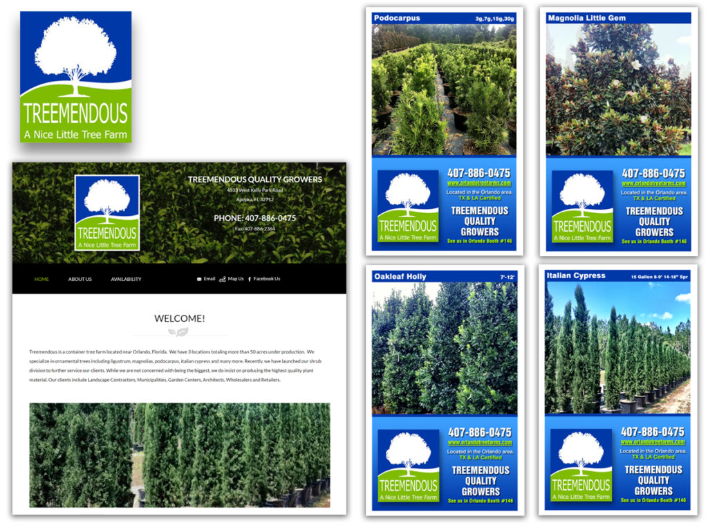 Treemendous Tree Farm | Web Design | Ad Designs