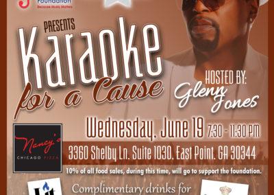 Glenn Jones Foundation Karaoke Night