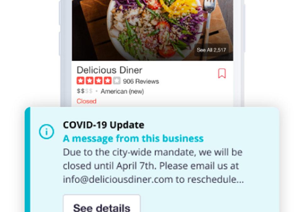 Yelp COVID-19 Alert